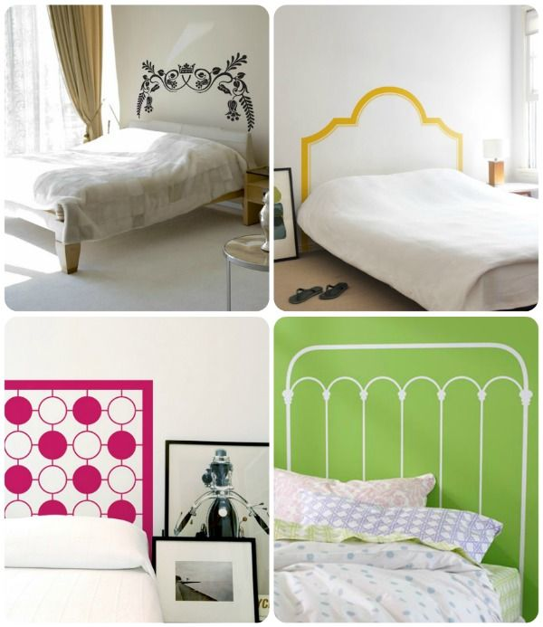 Vinyl decals for headboards? Who would have thought! Rent Your