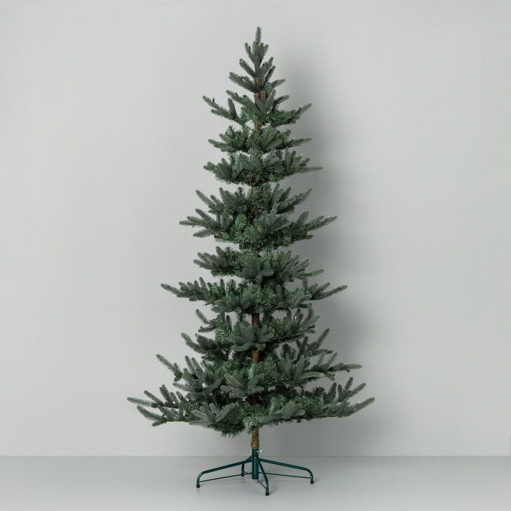 7ft Pre Lit Artificial Christmas Tree Hearth Hand With Magnolia Affordable Christmas Decorations Artificial Christmas Tree Christmas Decorations Rustic