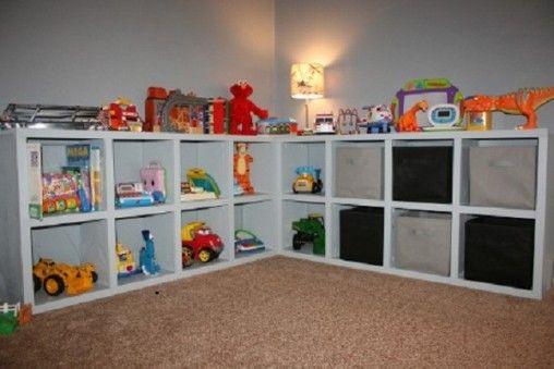 L Shaped Model For Kids Toy Storage Toy Storage Solutions Playroom Storage Kids Toy Organization