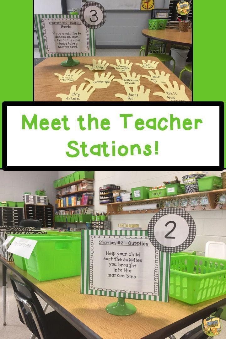 Meet the Teacher - First Day of School Stations - Back to School! #meettheteachernight