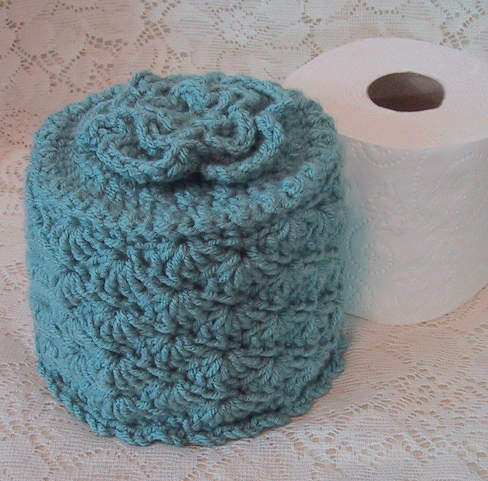Cover Your Spare Toilet Paper Cover w Flower by WeekendEveryday ...