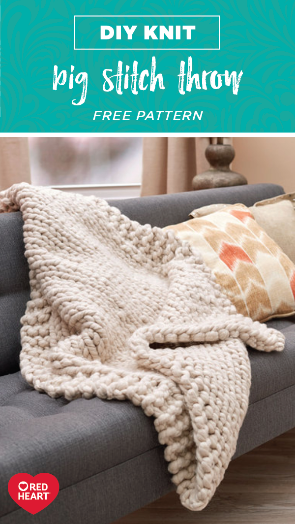 Learn how to create this DIY Knit Big Stitch Throw all thanks to a ...