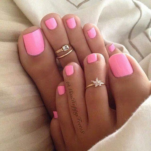 9960eb69a2d29c Pretty in pink Gel Toe Nails