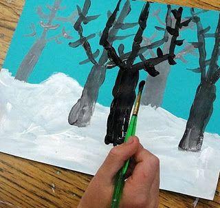 Talviset puut (syvyysvaikutelma)