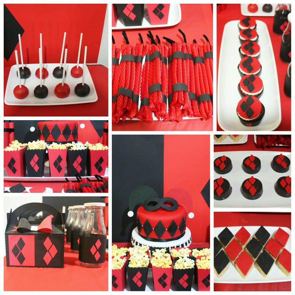 Harley Quinn Party Oreotruffles Licoricedynamite Cupcakes