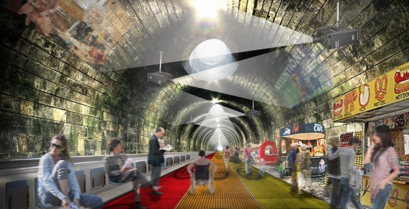 New London Underground plan from NBBJ consists of moving walkway
