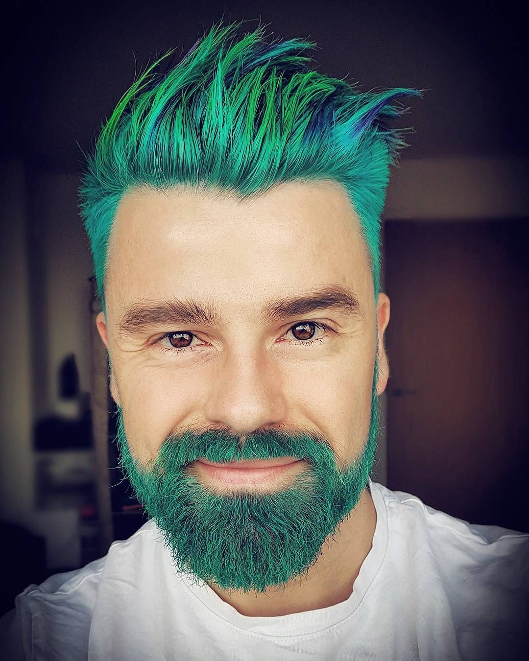 mr_lina Turquoise Blue Teal Green man beard | Hair Color ...