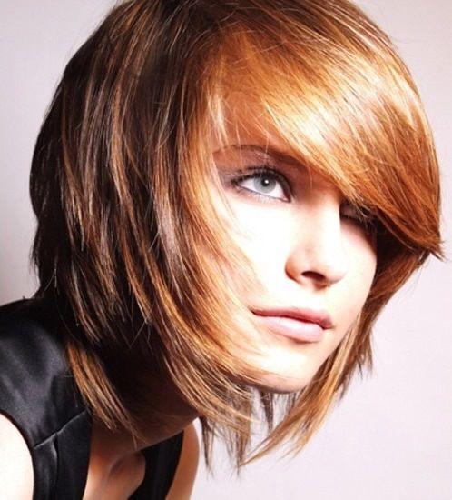 reino en corte de cabello asimetrico con flequillo peinados modernosde pelo cortomedia