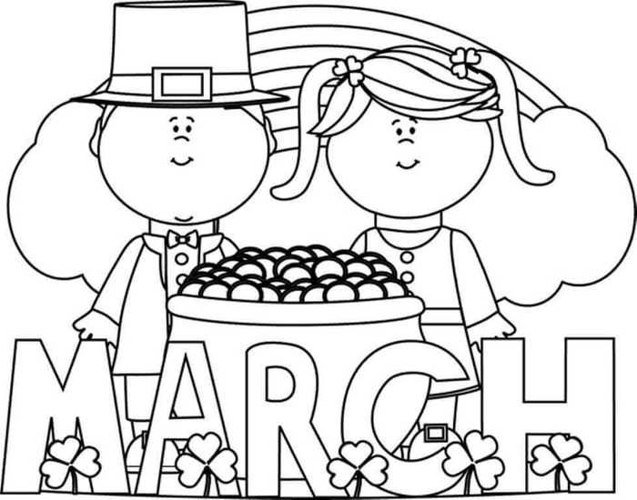Free March Coloring Pages Printable Free Coloring Sheets In 2021 St Patricks Day Clipart March Colors Coloring Pages