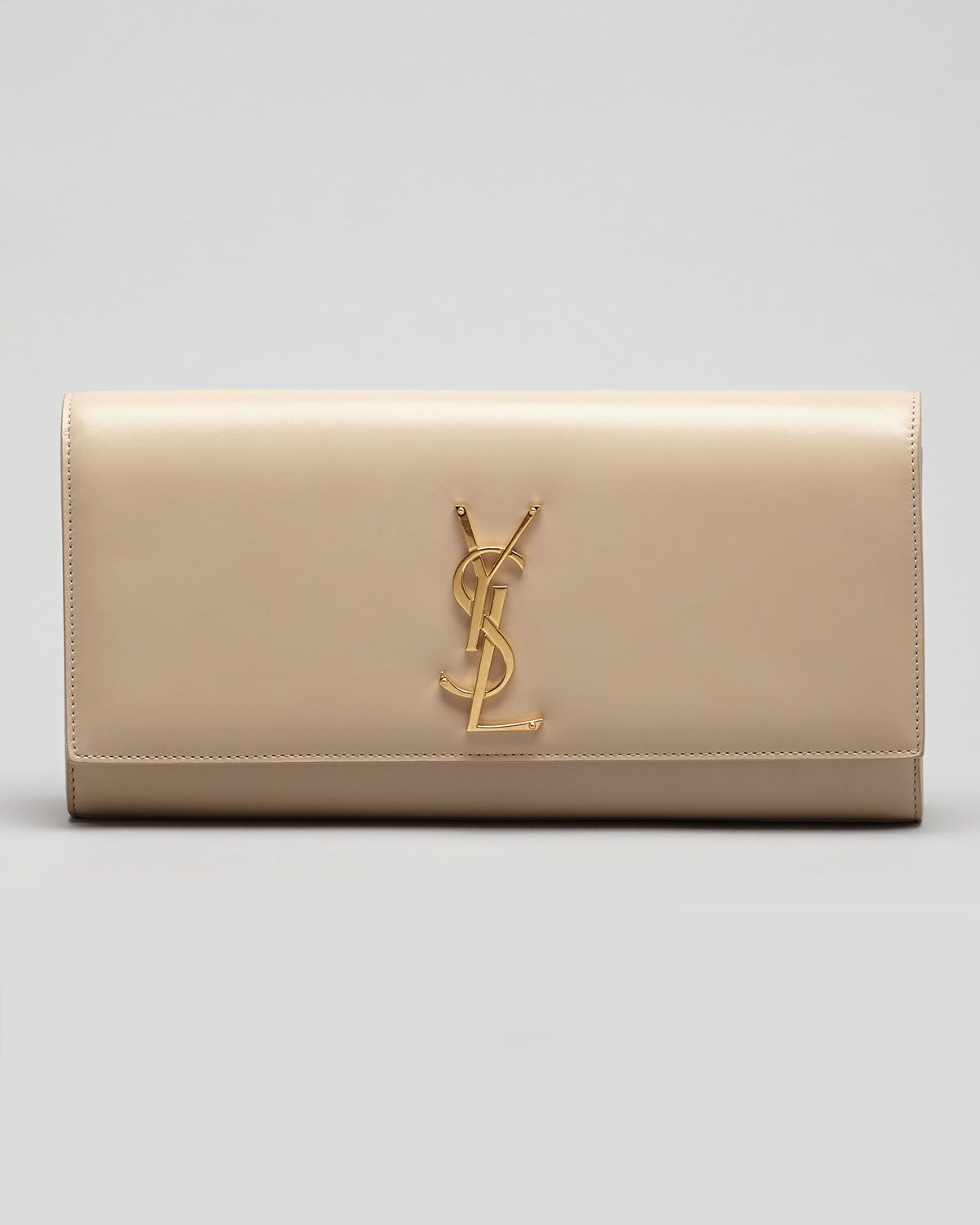 b8f638d658e5c Cassandre Clutch Bag Off White in 2019 | the aesth | Clutch bag, Ysl ...
