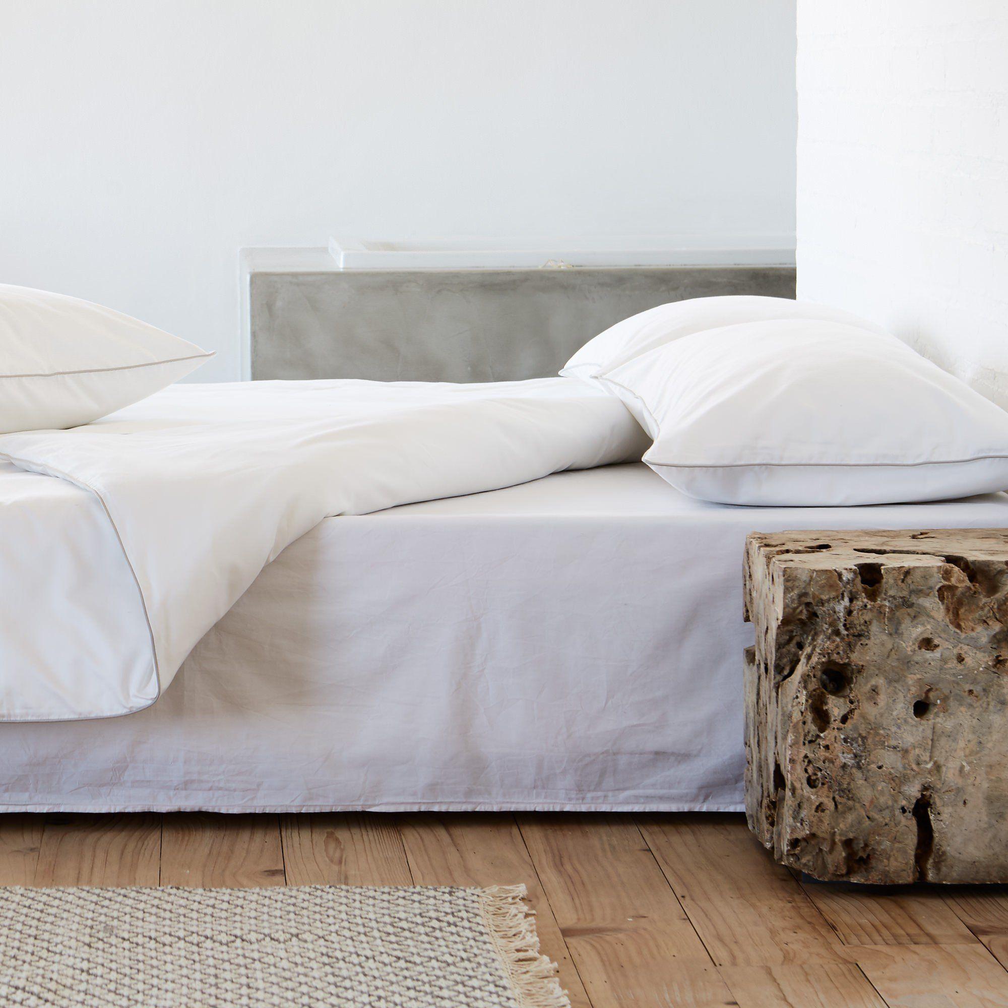Bettdeckenbezug Tercia Weiss Anthrazit 225x220 Cm Hidden