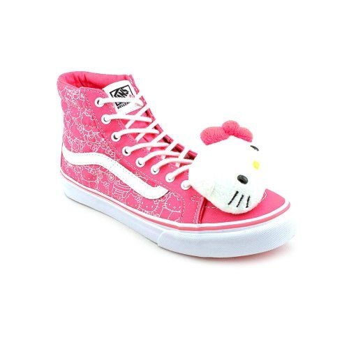 Vans Women s Sk8-Hi Slim (Hello Kitty) Hot Pink TruW Casual Shoes 4 Men US    5.5 Women US This shoes   sandals   boots style name or model number is  Sk8-Hi ... 92bc3d6b0