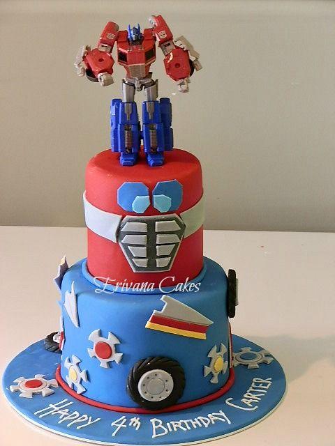 Phenomenal Optimus Prime Transformer Cake With Images Transformers Funny Birthday Cards Online Ioscodamsfinfo