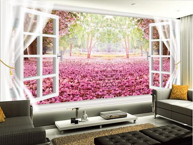 Muurstickers Slaapkamer Goedkoop : Goedkope d behang custom muurschildering non woven muurstickers
