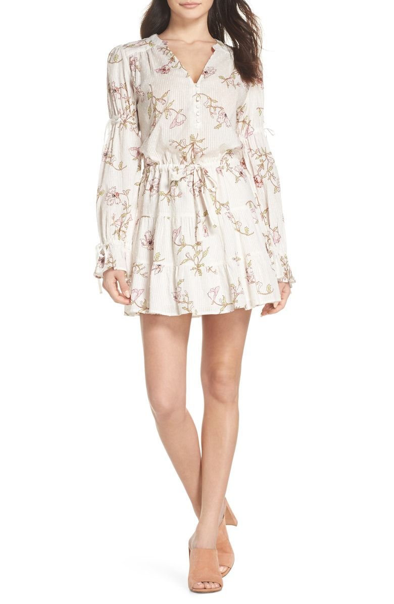 51de8dace9c5 Free shipping and returns on PAIGE Yardley Floral Minidress at  Nordstrom.com. A shadow striped weave with swiss dots adds subtle texture  to a breezy, ...