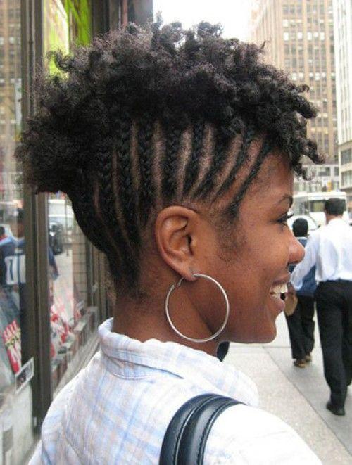 Cornrows Mohawk Hairstyles For Black Women