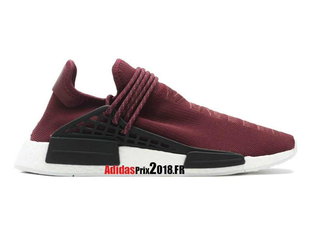 Adidas PW Human Race NMD Vin RougeNoir BB0617 Chaussures