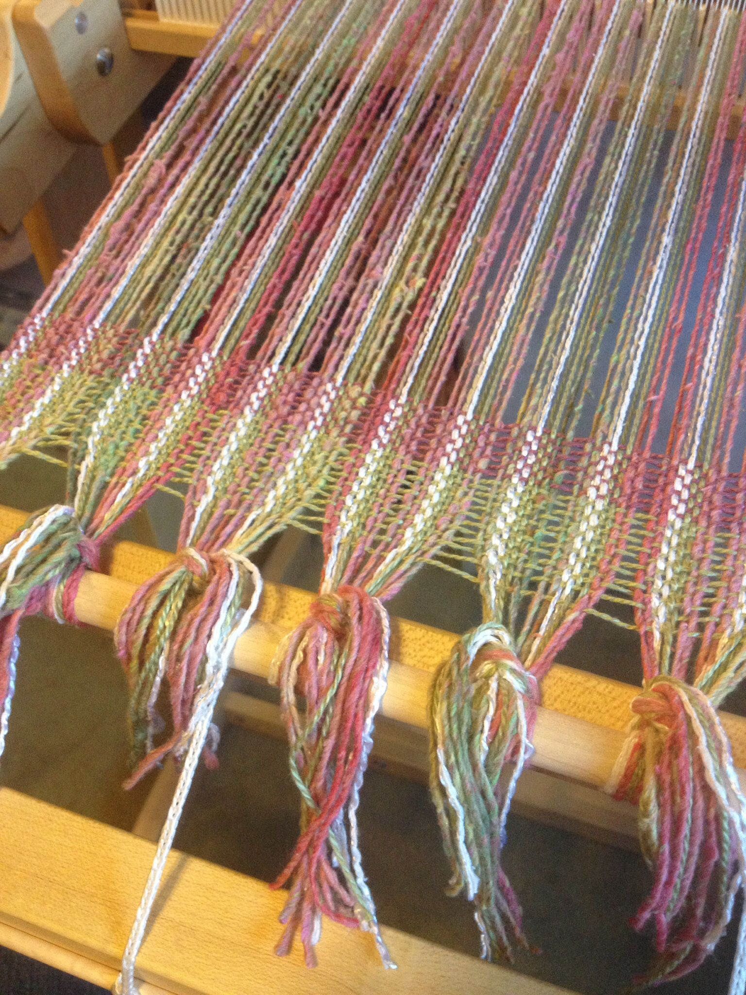 My Latest Warp Trying To Decide On The Weft Color Tapestry Weaving Loom Weaving Weaving