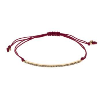 LC Lauren Conrad Pave Curved Bar Cord Bracelet