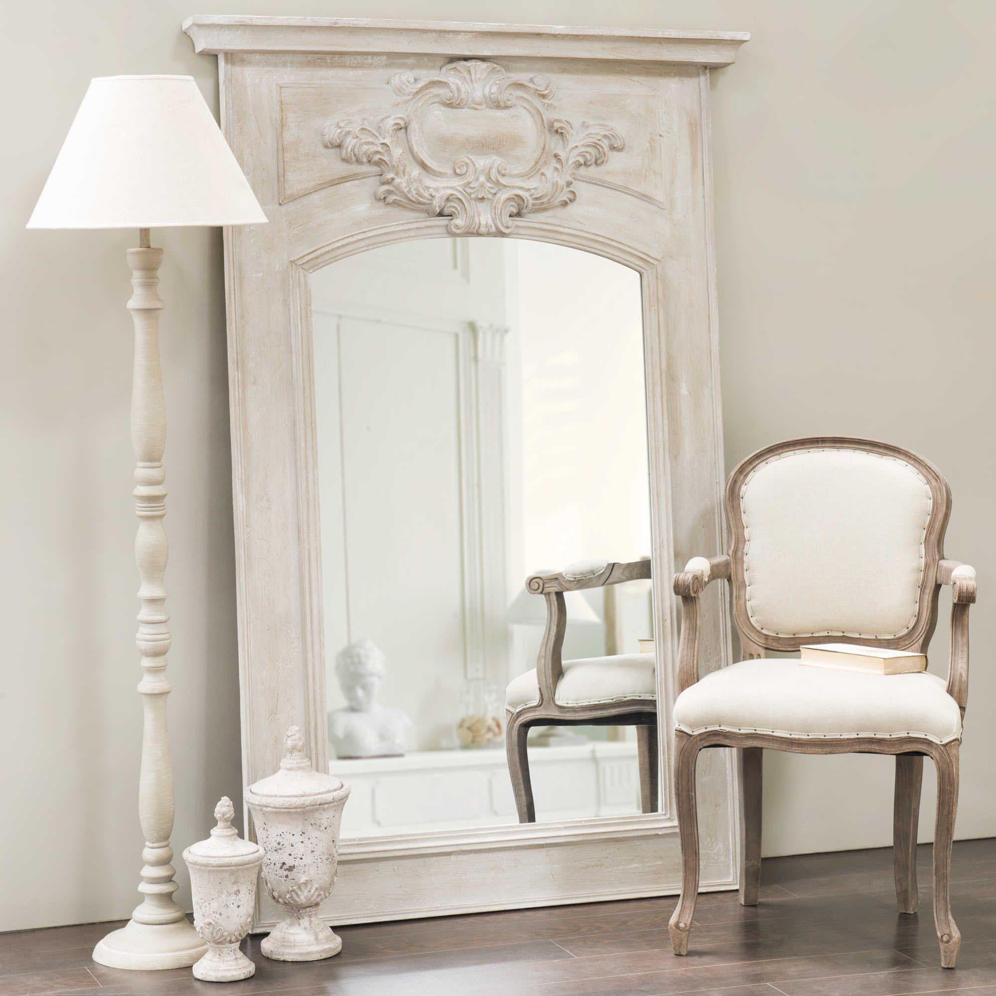 Miroir trumeau en bois gris h 180 cm d co pinterest miroir trumeau trumeau et bois gris for Miroir bois gris
