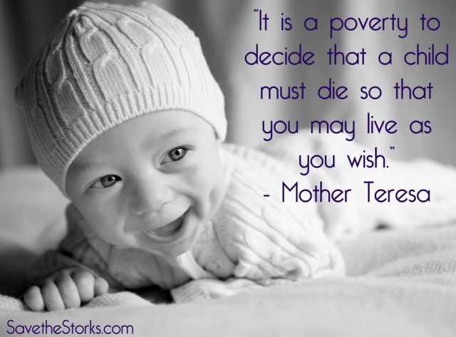 It is a poverty to decide that a child must die so that