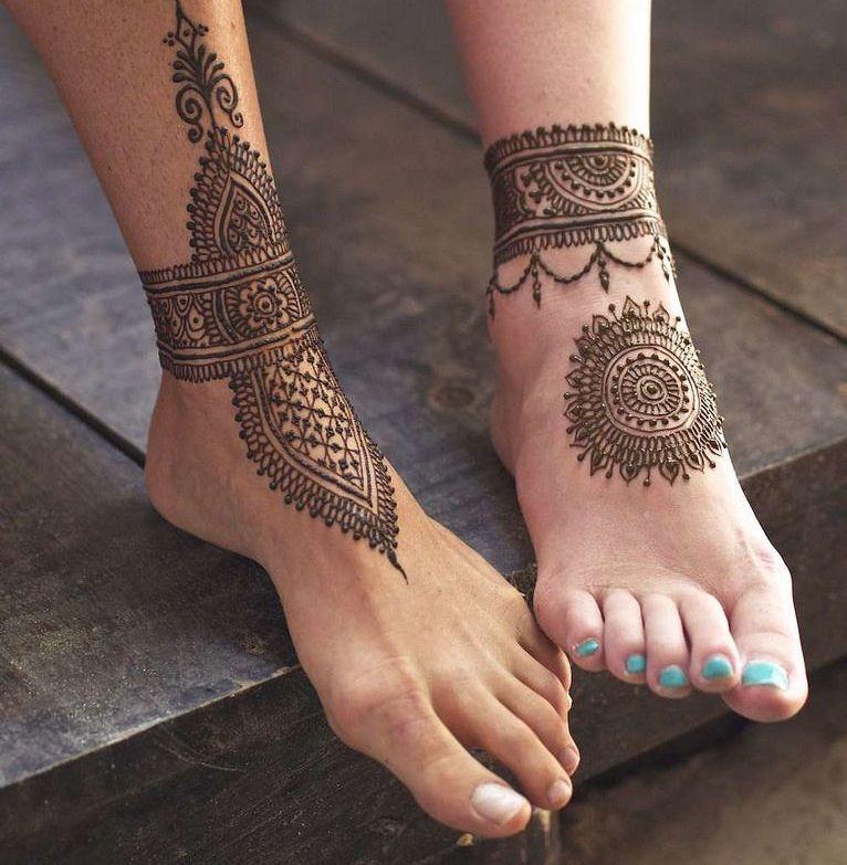 أجمل رسومات حنه على الرجل موسوعة Henna Designs Feet Henna Tattoo Foot Henna Tattoo Designs