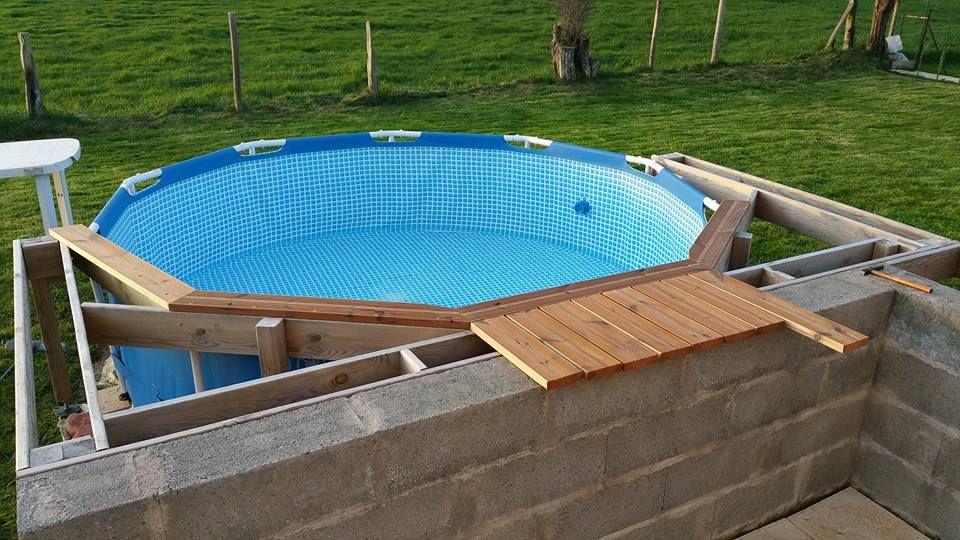 Pin by Gene on Piscines hors sol, jacuzzis, spas Pinterest Spa - amenagement autour piscine hors sol