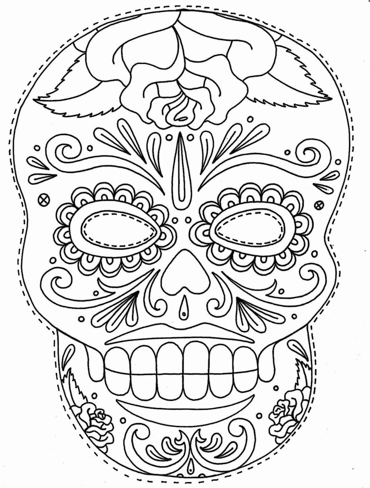 Blank Sugar Skull Template Luxury Tattoos Book 2510 Free