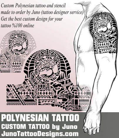 polynesian tree tattoo - samoan tattoo template - juno tattoo - tattoo template