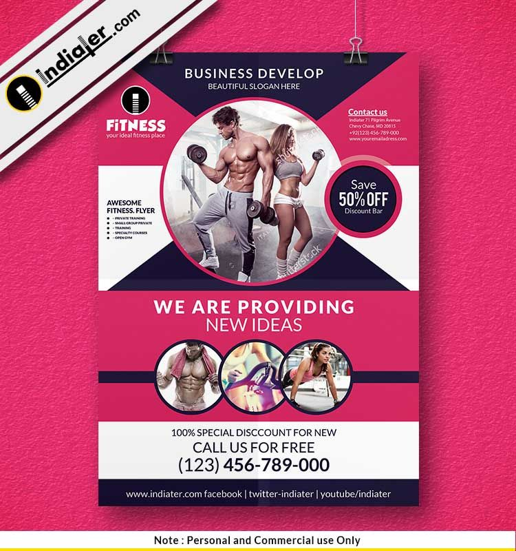 Free Fitness Gym Health Flyer PSD Template Sahil Rajput