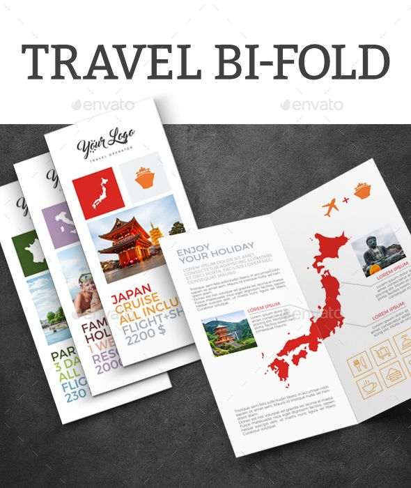 Travel Bi Fold Brochures Brochure Template And Template