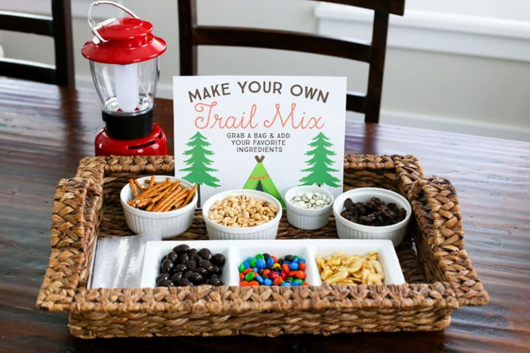 How to Set Up a DIY Trail Mix Bar by The Littles and Me