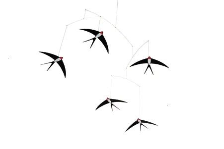 Five Mobile  Swallow Five Mobile  Swallow Five Mobile  This Colorful Geometric Mobile Adds Charm To Any Room Flensted Mobiles Mobile Fünf Fliegende Schwalben Flenste...
