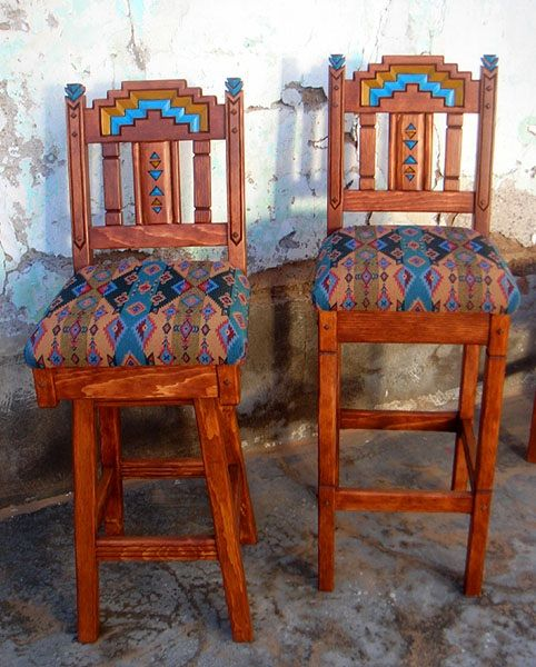 Western Southwestern Bar Counter Stools Dining Chairs Wall Decor Decorating