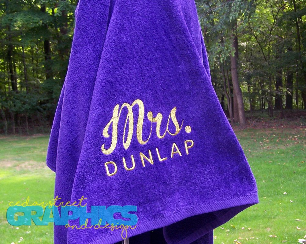 Large Monogrammed Beach Towels.Personalized Beach Towel Extra Large Bridal Shower Gift