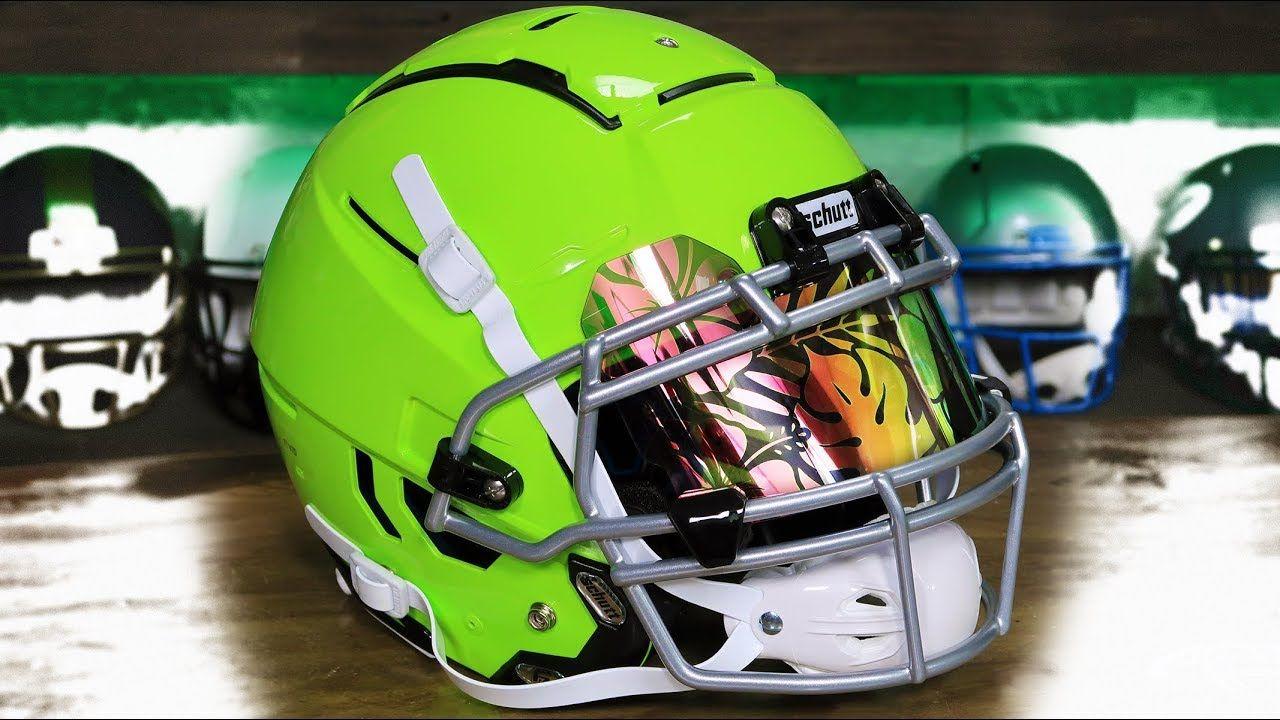 Hyper green helmet build f7 vtd in 2020 football