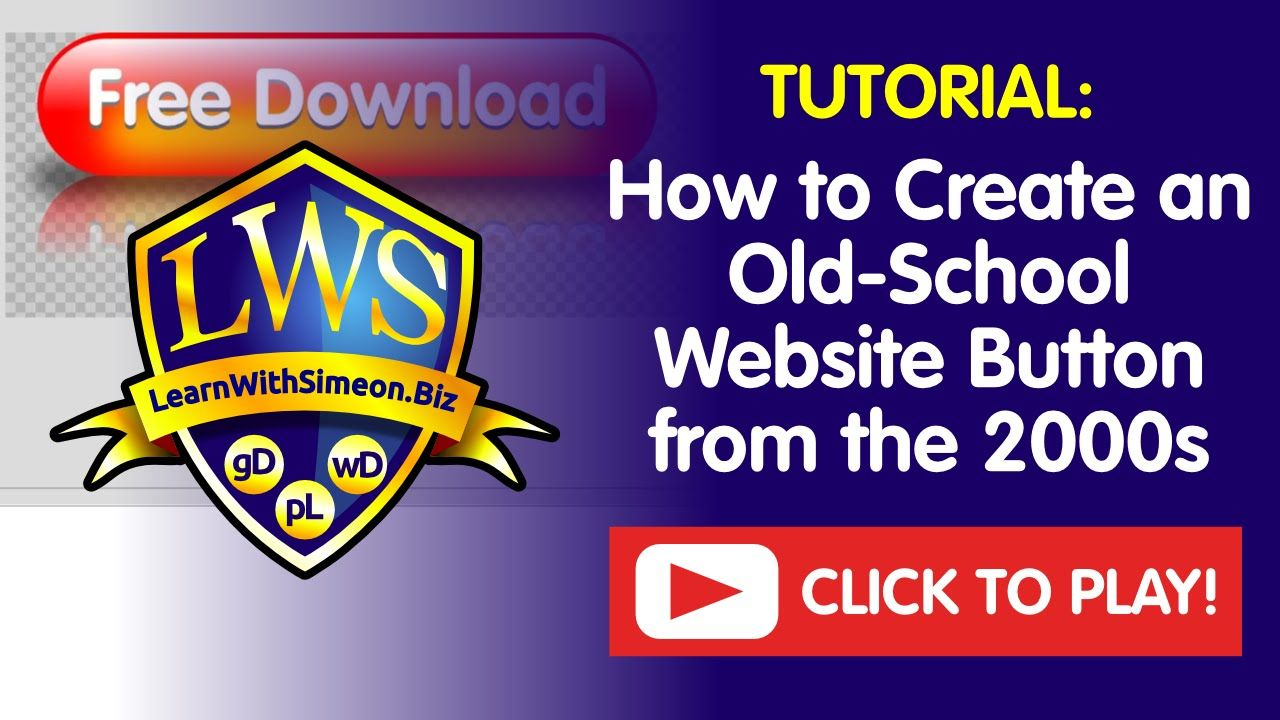 How to Create an OldSchool Website Button from the 2000s