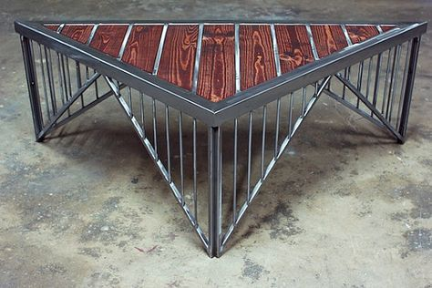 Custom Coffee Table e of a Kind Metal and Wood by MikeyGaumann