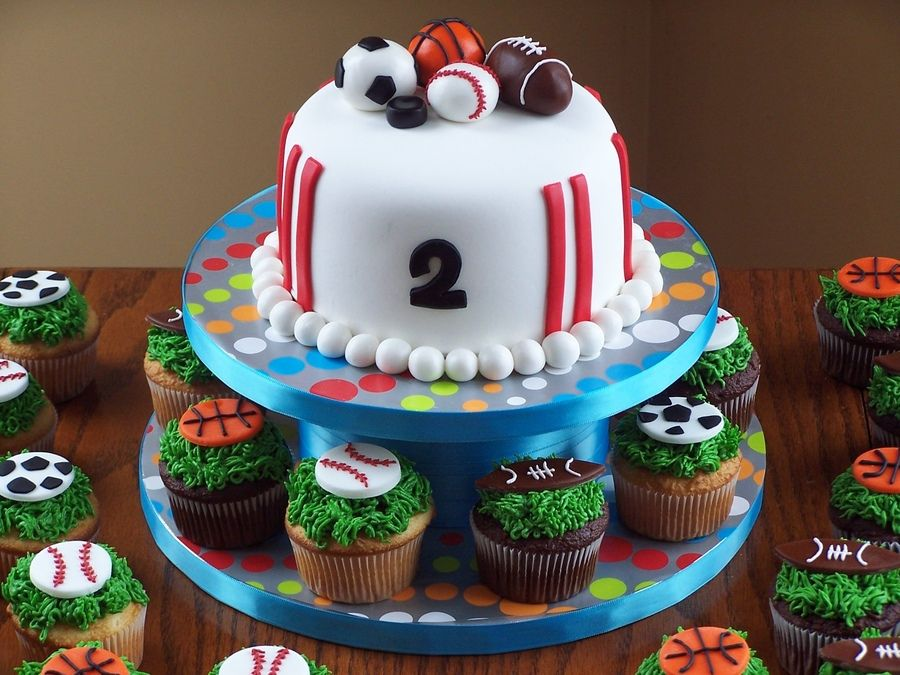 Sport Theme Cakes for Boys up with I was inspired by a cake on