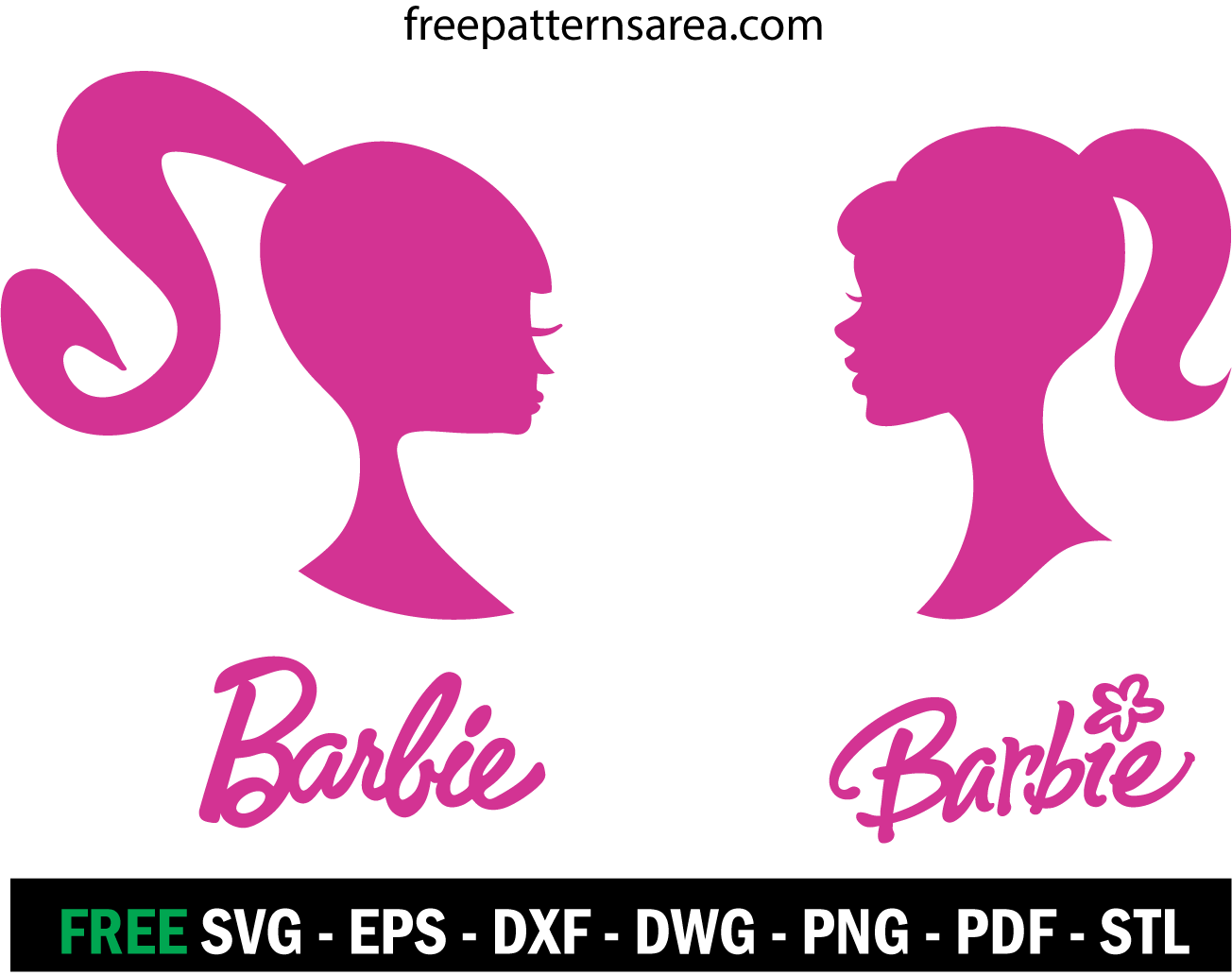 Barbie Silhouette Head Vector Logo Sign Freepatternsarea Barbie Silhouette Silhouette Head Barbie Images