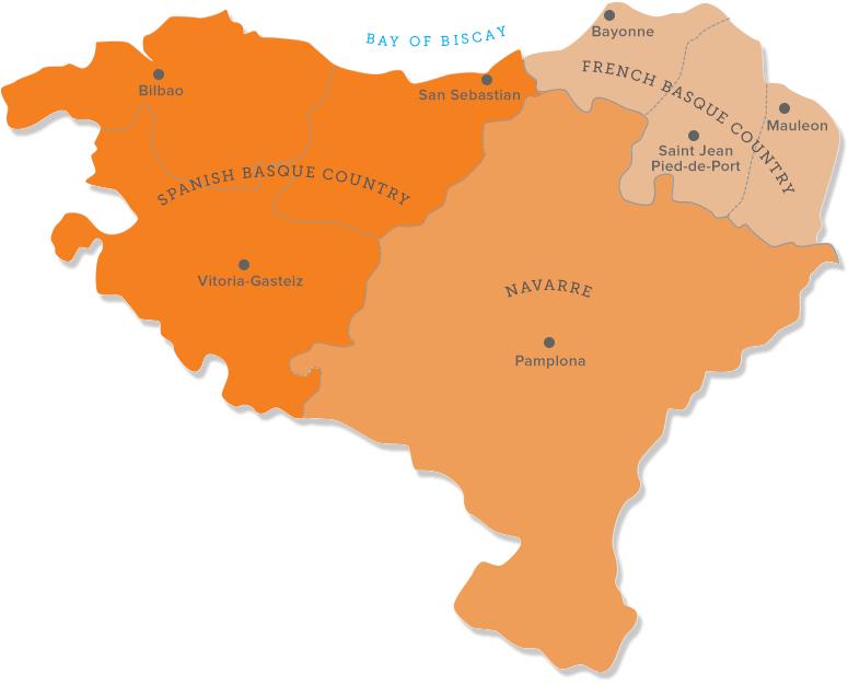 Basque Country Map Euskal Herria Spain Pinterest Basque