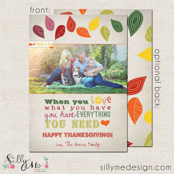 Love Leaves Custom Fall Cards or Thanksgiving by sillymedesign, $15.00