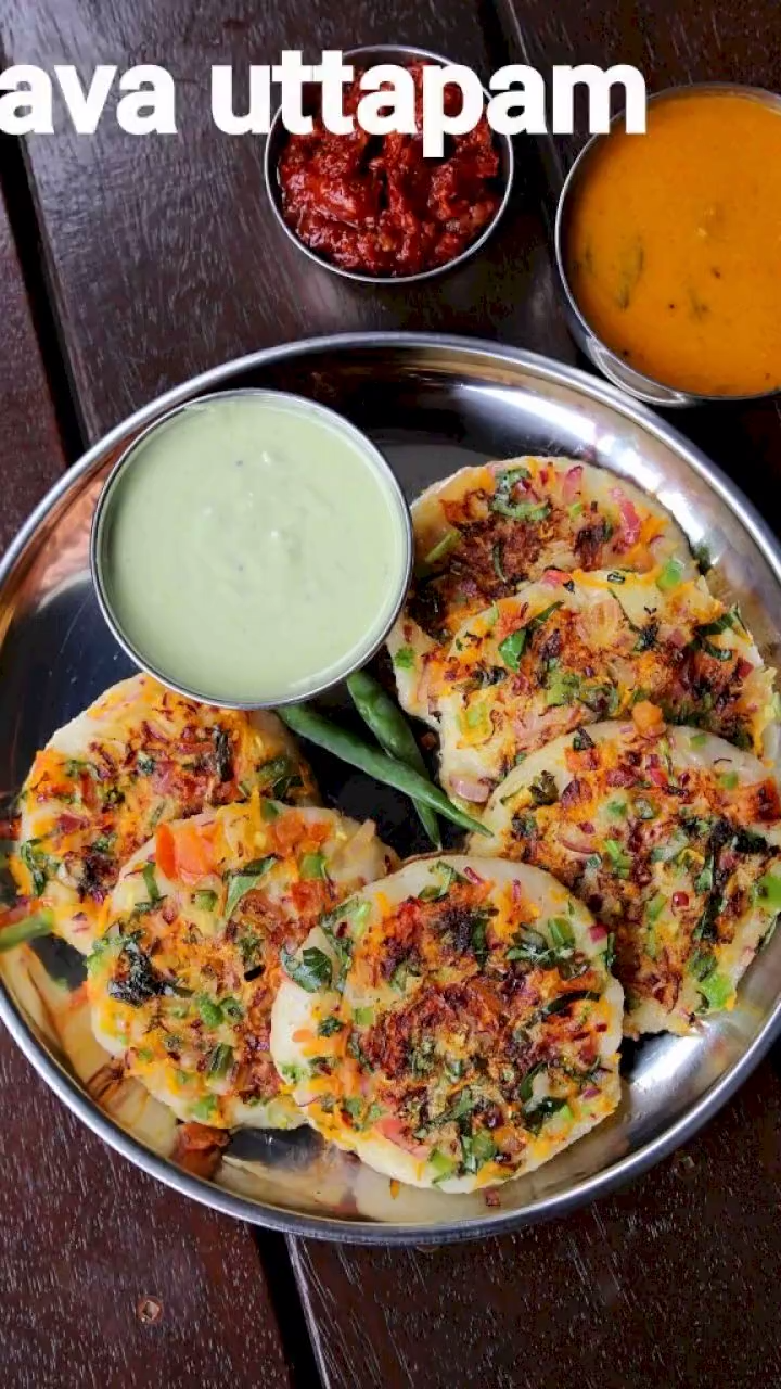 Photo of rava uttapam recipe | instant suji uttapam recipe | sooji uttapam
