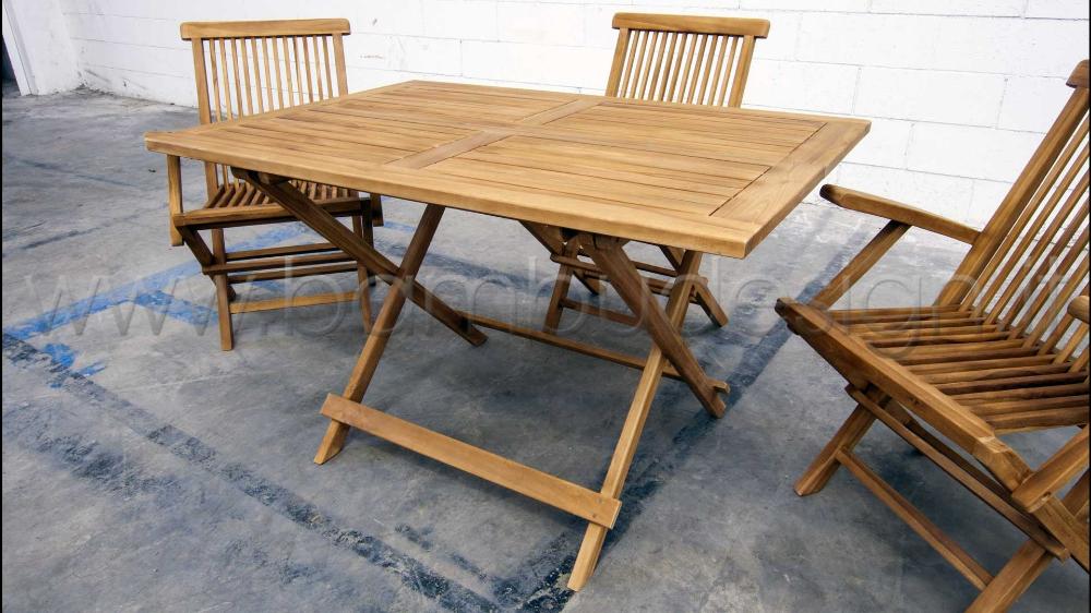 Tavoli Da Esterno Milano.Tavolo In Teak Ideale Per Esterno 120x80 H75 Cm Bambu Design