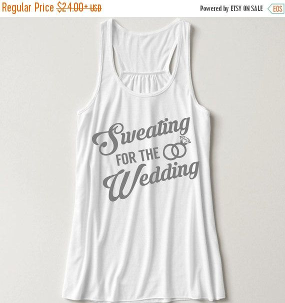 BRIDAL SALE sweating for the wedding workout tanks by LineLiam