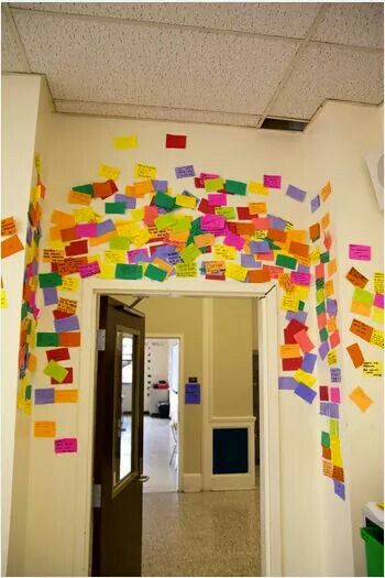 A shout out wall for students to share successes at home or at ...