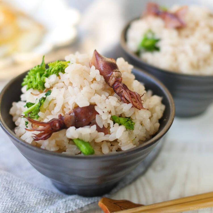 一週間の晩ごはん 献立リスト Vol 3 Macaroni レシピ ホタルイカ 炊き込みご飯 夕食