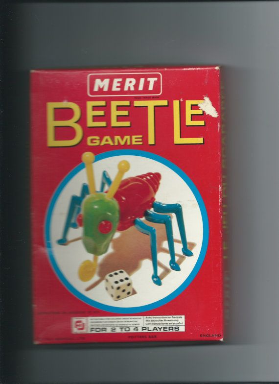 Vintage Beetle Game by Merit 1970s by Marcialois on Etsy