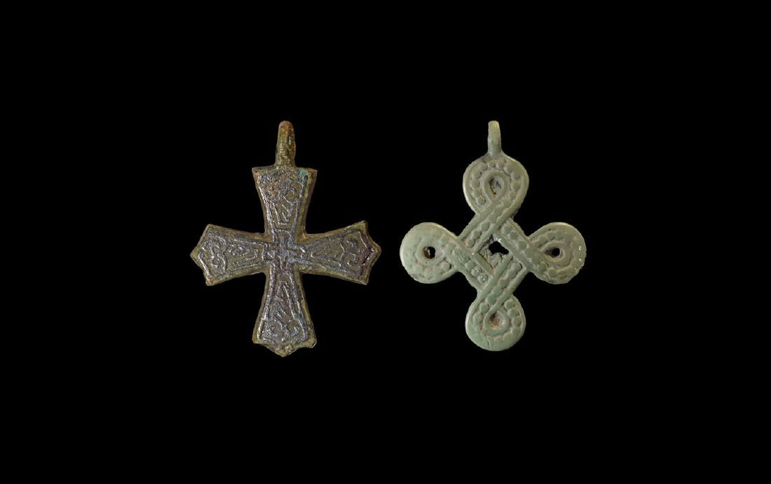Viking cross pendant group 11th 12th century ad a group of viking cross pendant group 11th 12th century ad a group of bronze cross mozeypictures Images