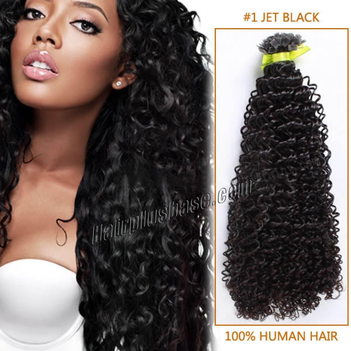 16 Inch 1 Jet Black Afro Curl Indian Remy Hair Wefts Curly